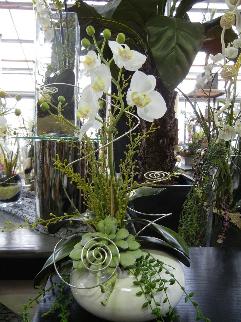 Kreative gestaltungsidee mit k nstlichen blumen ams 4 - Orchideen arrangement ...